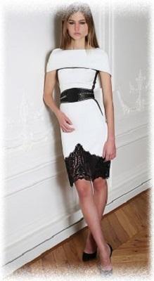 черно-белое коктейльное платье