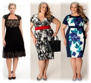 Модные платья для полных 2015