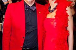 Олег Меньшиков с женой Анастасией