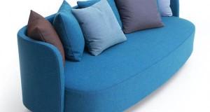 Стильный диван как элемент гостинной