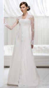 Платье с прямым вырезом