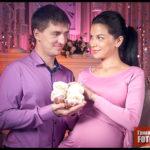 Семейная фотосессия для беременной