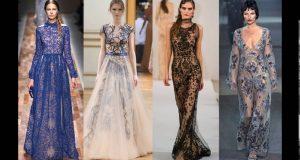 виды вечерних платьев