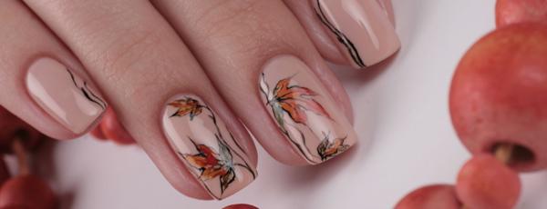 дизайн ногтей на осень