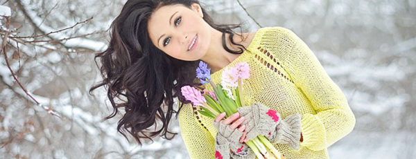 как красиво сфотографироваться с цветами
