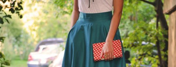 юбка ниже колена с чем носить